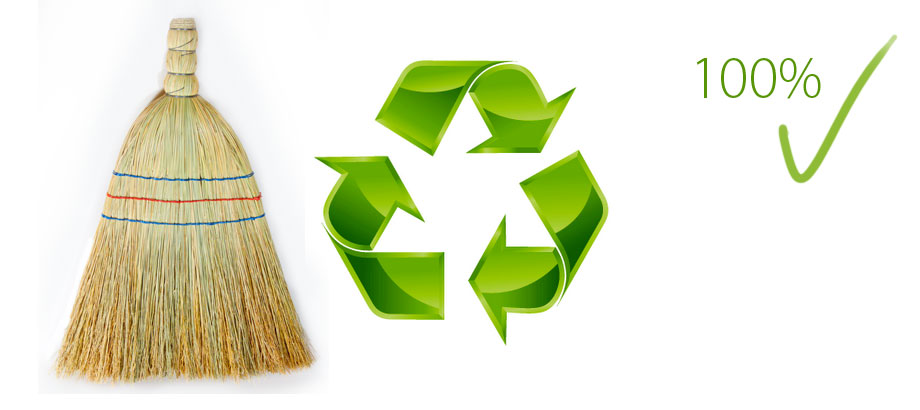 Biodegradable brooms